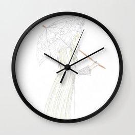 jessamine with her parasol Wall Clock