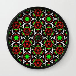 Holly Leaf Pattern Wall Clock