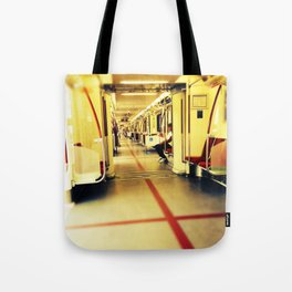 Riding the Toronto Train Tote Bag