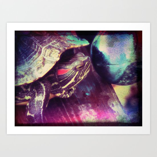 I See What The Future Holds, Murtle the Turtle Art Print