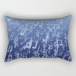 Aquatic Chords Rectangular Pillow