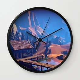 Boat Trip II - The Ruins Wall Clock