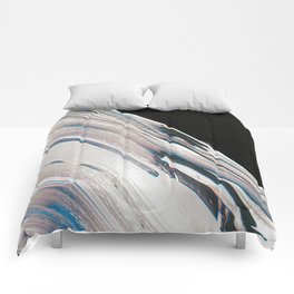 Space Time Blur Comforters