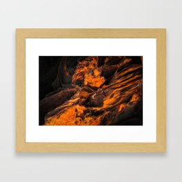 Obsidian Rock - Lava Flow Framed Art Print