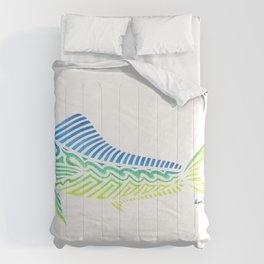 Tribal Mahi Mahi Comforters