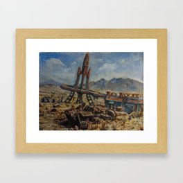 The Red Rocket Framed Art Print