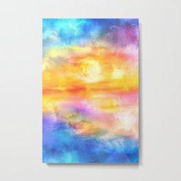 Abstract Sunset Artwork II Metal Print
