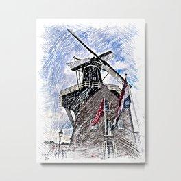 WindMill Haarlem Metal Print