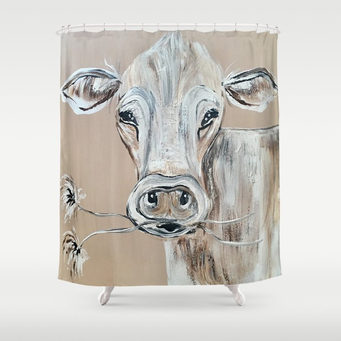 Marge The Cow Shower Curtain