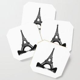 Eiffel Tower in Black Coaster