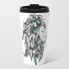Poetic Lion Turquoise Travel Mug