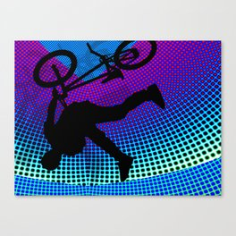 BMX in Fractal Movie Marquee Canvas Print