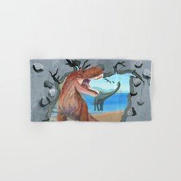 Prehistoric Dinosaur Tyrannosaurus Enters the 21st Century Hand & Bath Towel