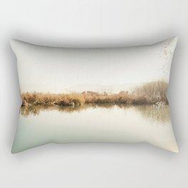 Autumn Lake Scene Rectangular Pillow