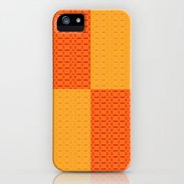 Yellow Orange Pattern iPhone Case