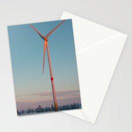 Wind Turbine at dawn Stationery Cards