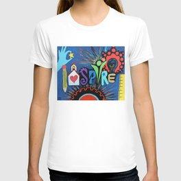 INSPIRE - Educational school teacher painting T-shirt