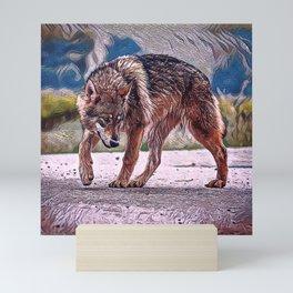 Wolf Pack Leader Mini Art Print