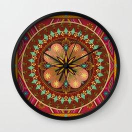Mandala Esmeralda Wall Clock