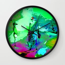 jardin arc en ciel Wall Clock