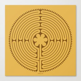 Chartres Labyrinth Canvas Print