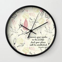 Proverbs 16:3 Wall Clock