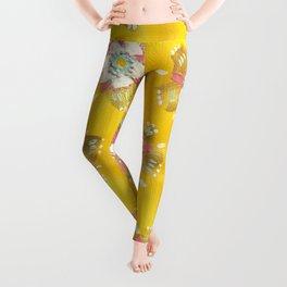 Lemon Rose Leggings