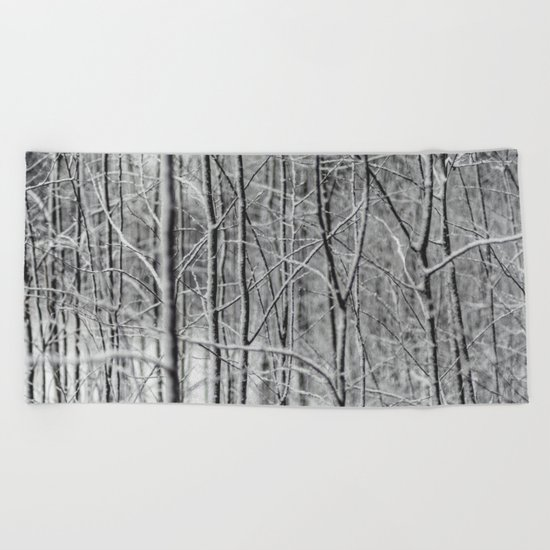 Frosted Forest Beach Towel