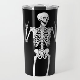 Metal and Rock and Roll Skeleton Travel Mug