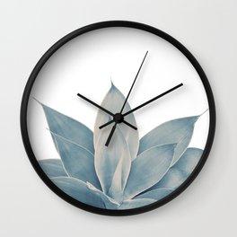 Blush Blue Agave #1 #tropical #decor #art #society6 Wall Clock