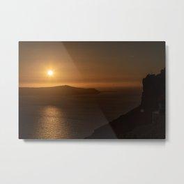 Golden Hour in Santorini Metal Print