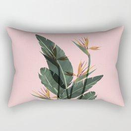 Bird of Paradise Flower Vintage Rectangular Pillow