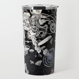 Spacestation Illustration Travel Mug