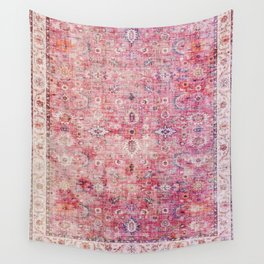 Pink Vintage Antique Oriental Traditional Moroccan Original Artwork Wall Tapestry