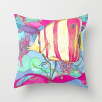 angel Throw Pillows featuring Angel by Juliana Kroscen