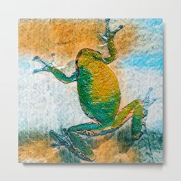 Tree Frog Abstract Metal Print