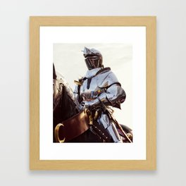 Knight In Shining Armour Framed Art Print