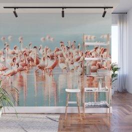 Pink Flamingo, Tropical Art Print By Synplus Wall Mural