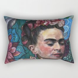 Frida Kahlo portrait (1) Rectangular Pillow
