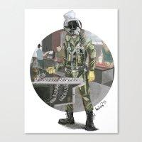 pilot Canvas Prints featuring Pilot by Kalegiro