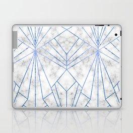 Art Deco Marble & Blue - Large Scale Laptop & iPad Skin