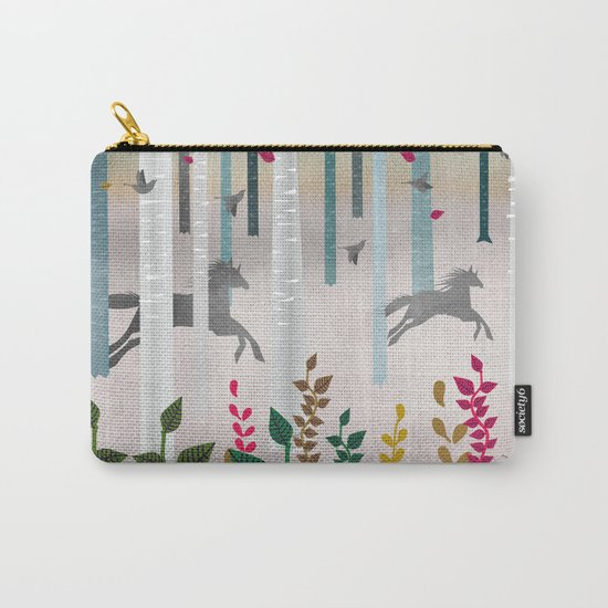 Flying Horses Carry-All Pouch