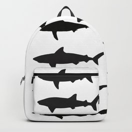 Shark Silhouettes Backpack