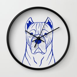 Cane Corso (Grey and Blue) Wall Clock