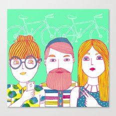 Hipsters Canvas Print
