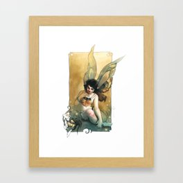 Vintage Fairy Framed Art Print