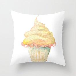 Ice Cream Yellow Throw Pillow