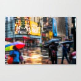 Rainy day in New York City Canvas Print