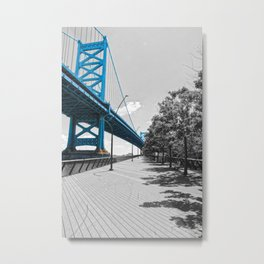 Ben Franklin Bridge-Race Street Pier Philadelphia Metal Print
