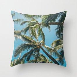 Kuau Palms Paia Maui Hawaii Throw Pillow